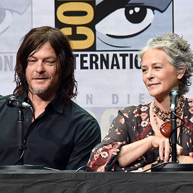 Norman Reedus and Melissa McBride at an event for The Walking Dead (2010)