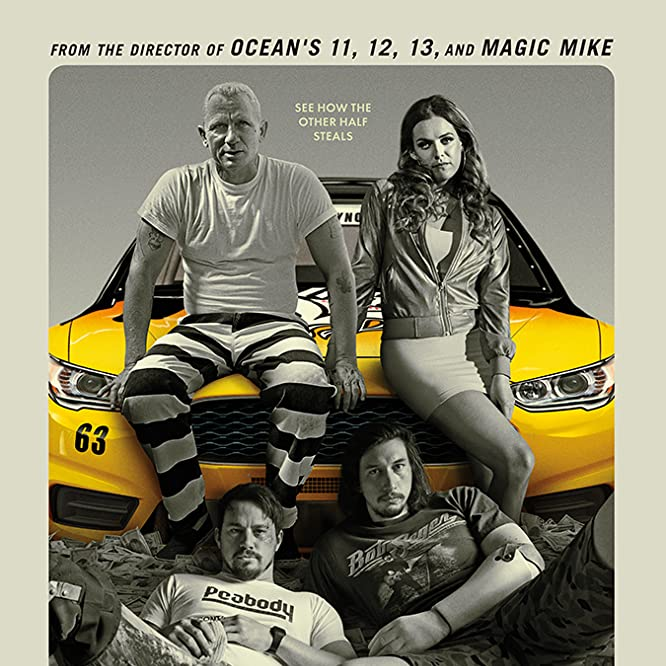 Daniel Craig, Channing Tatum, Riley Keough, and Adam Driver in Logan Lucky (2017)