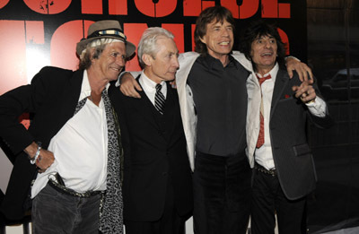 Mick Jagger, Keith Richards, Charlie Watts, and Ronnie Wood at Shine a Light (2008)