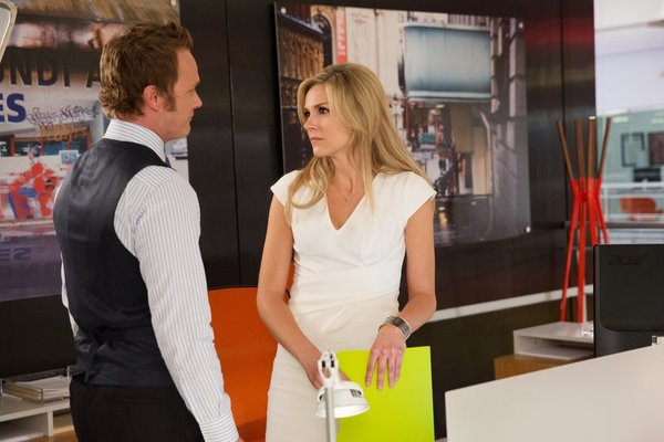 David Anders and Lee Staples in Necessary Roughness (2011)
