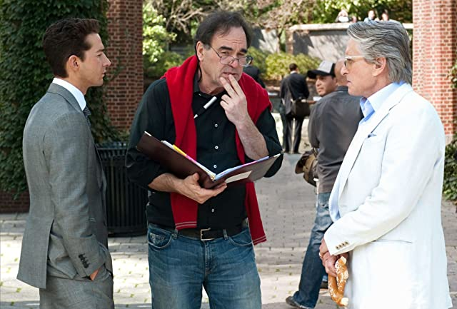 Michael Douglas, Oliver Stone, and Shia LaBeouf in Wall Street: Money Never Sleeps (2010)