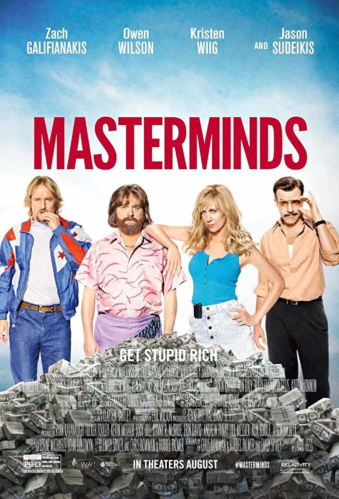Masterminds 2016 1080p HEVC BluRay 300MB Movies