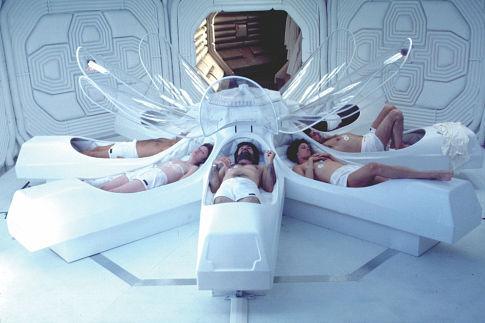 Sigourney Weaver, Ian Holm, Tom Skerritt, Veronica Cartwright, and Harry Dean Stanton in Alien (1979)