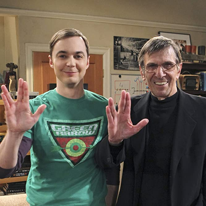 Leonard Nimoy and Jim Parsons in The Big Bang Theory (2007)