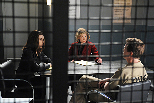 Julianna Margulies, Christine Baranski, and Dylan Baker in The Good Wife (2009)