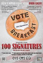 100 Signatures Poster