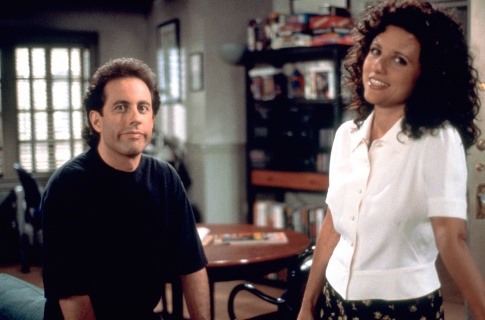 Julia Louis-Dreyfus and Jerry Seinfeld in Seinfeld (1989)