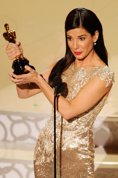 Sandra Bullock capped a career-comeback year with an Oscar for her performance in The Blind Side. Her heartfelt thank-you speech, with teary-eyed husband Jesse James in the audience, was forever altered when the news broke a scant week later that James had cheated on his wife, America's newest sweetheart.