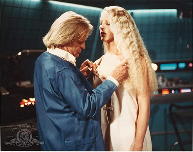 Klaus Kinski and Kendra Kirchner in Android (1982)