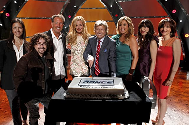 Barry Adelman, Orly Adelson, Cat Deeley, Zooey Deschanel, and Nigel Lythgoe in So You Think You Can Dance (2005)