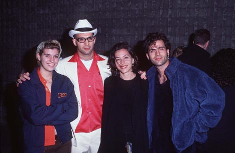 Dweezil Zappa, Ahmet Zappa, Diva Zappa, and Moon Unit Zappa at Scream (1996)