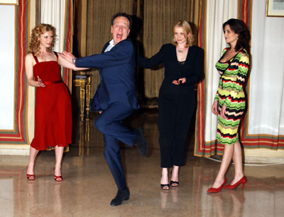 Geoffrey Rush, Emily Watson, Sonia Aquino, and Emilia Fox at The Life and Death of Peter Sellers (2004)