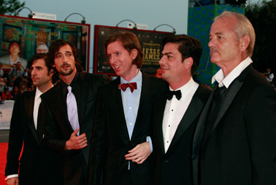 Bill Murray, Adrien Brody, Jason Schwartzman, Wes Anderson, and Roman Coppola at The Darjeeling Limited (2007)