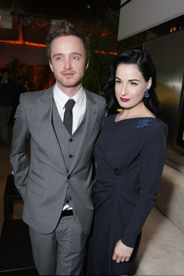 Aaron Paul and Dita Von Teese at an event for Breaking Bad (2008)