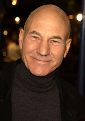 Patrick Stewart at an event for The Time Machine (2002)