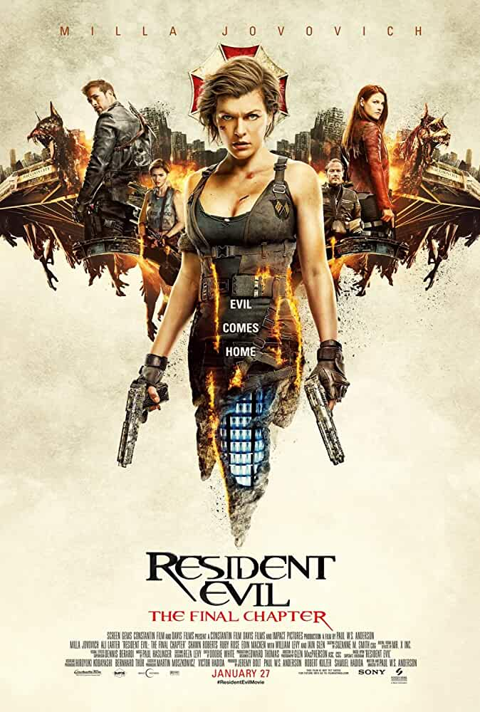 Poster Resident Evil The Final Chapter (2017) Full HD Movie Download Hindi Dubbed