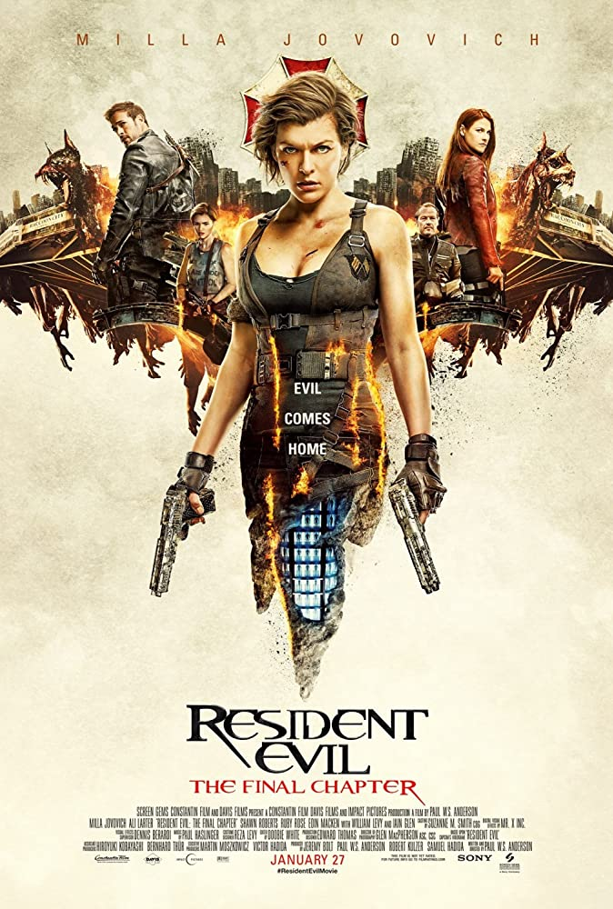 RESIDENT EVIL: THE FINAL CHAPTER (2017) 720P BLURAY 700MB