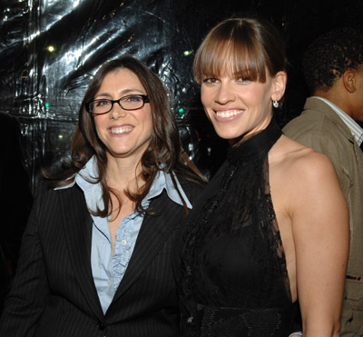 Hilary Swank and Stacey Sher at Freedom Writers (2007)