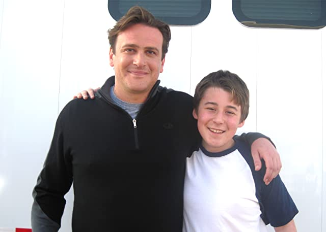 With Jason Segal on set of