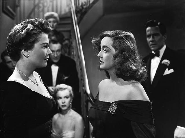 Bette Davis, Marilyn Monroe, Anne Baxter, George Sanders, Celeste Holm, Hugh Marlowe, and Gary Merrill in All About Eve (1950)