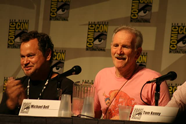 Gregg Berger and Michael Bell at the Cartoon Voices II panel, Comic-Con 2007.