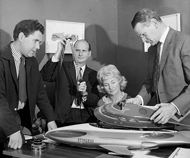 Gerry Anderson, Sylvia Anderson, Reg Hill, and John Read