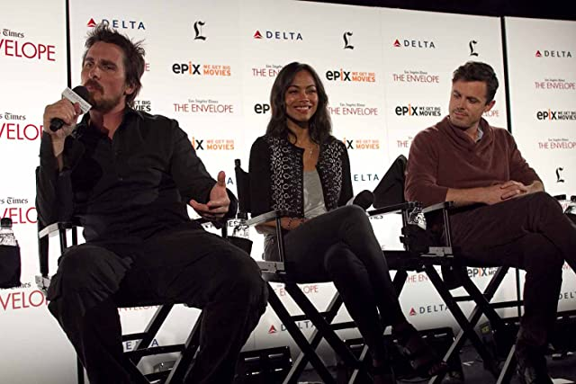 Christian Bale, Casey Affleck, and Zoe Saldana at Out of the Furnace (2013)