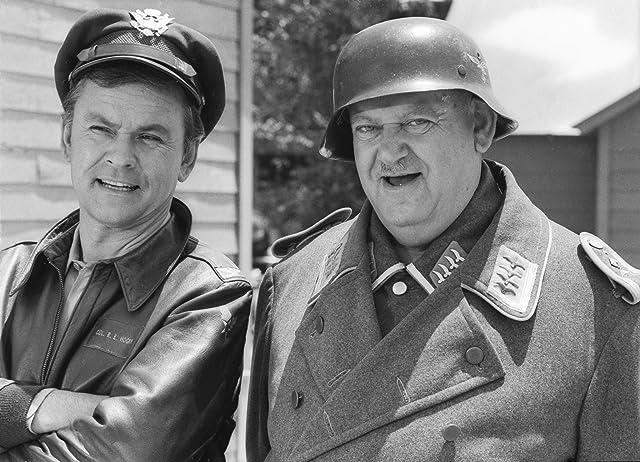 John Banner and Bob Crane in Hogan's Heroes (1965)