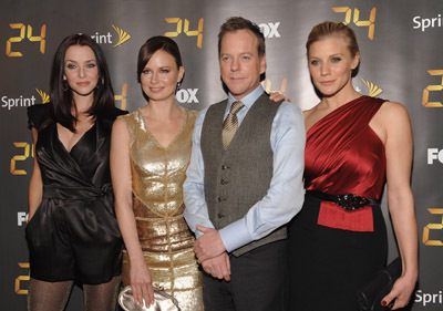 Kiefer Sutherland, Mary Lynn Rajskub, Katee Sackhoff, and Annie Wersching at 24 (2001)