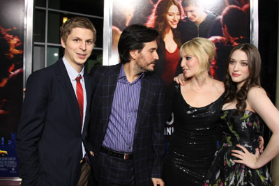Michael Cera, Ari Graynor, Peter Sollett, and Kat Dennings at an event for Nick and Norah's Infinite Playlist (2008)