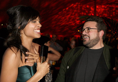 Kevin Smith and Rosario Dawson at Grindhouse (2007)