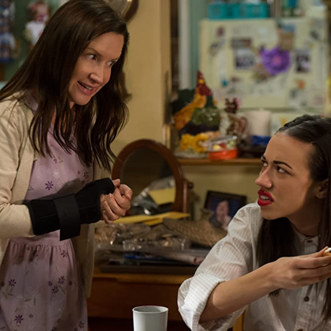 Angela Kinsey and Colleen Ballinger in Haters Back Off! (2016)