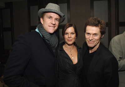 Willem Dafoe, Matthew Modine, and Marcia Gay Harden at an event for Match Point (2005)