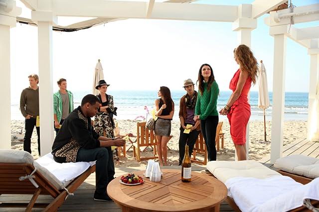 Shenae Grimes-Beech, Michael Steger, AnnaLynne McCord, Trevor Donovan, Matt Lanter, Jessica Stroup, Jessica Lowndes, and Tristan Mack Wilds in 90210 (2008)