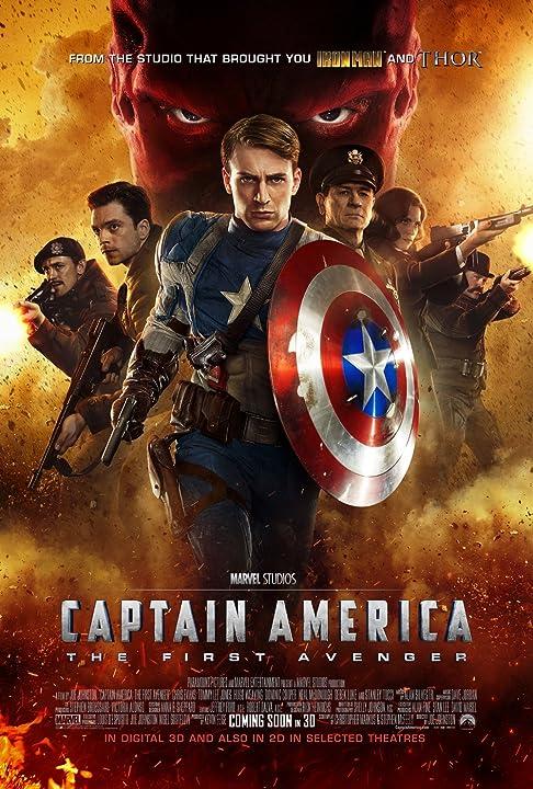 Tommy Lee Jones, Chris Evans, JJ Feild, Neal McDonough, Hugo Weaving, Sebastian Stan, and Hayley Atwell in Captain America: The First Avenger (2011)