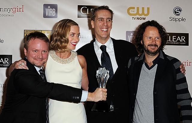 Ram Bergman, Rian Johnson, Peter Schlessel, and Emily Blunt at Looper (2012)