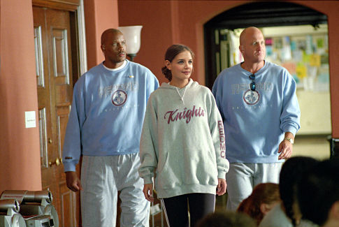 Samantha's (Katie Holmes) omnipresent Secret Service detail (Dwayne Adway, left and Michael Milhoan) never lets her forget that she's the First Daughter of the U.S.