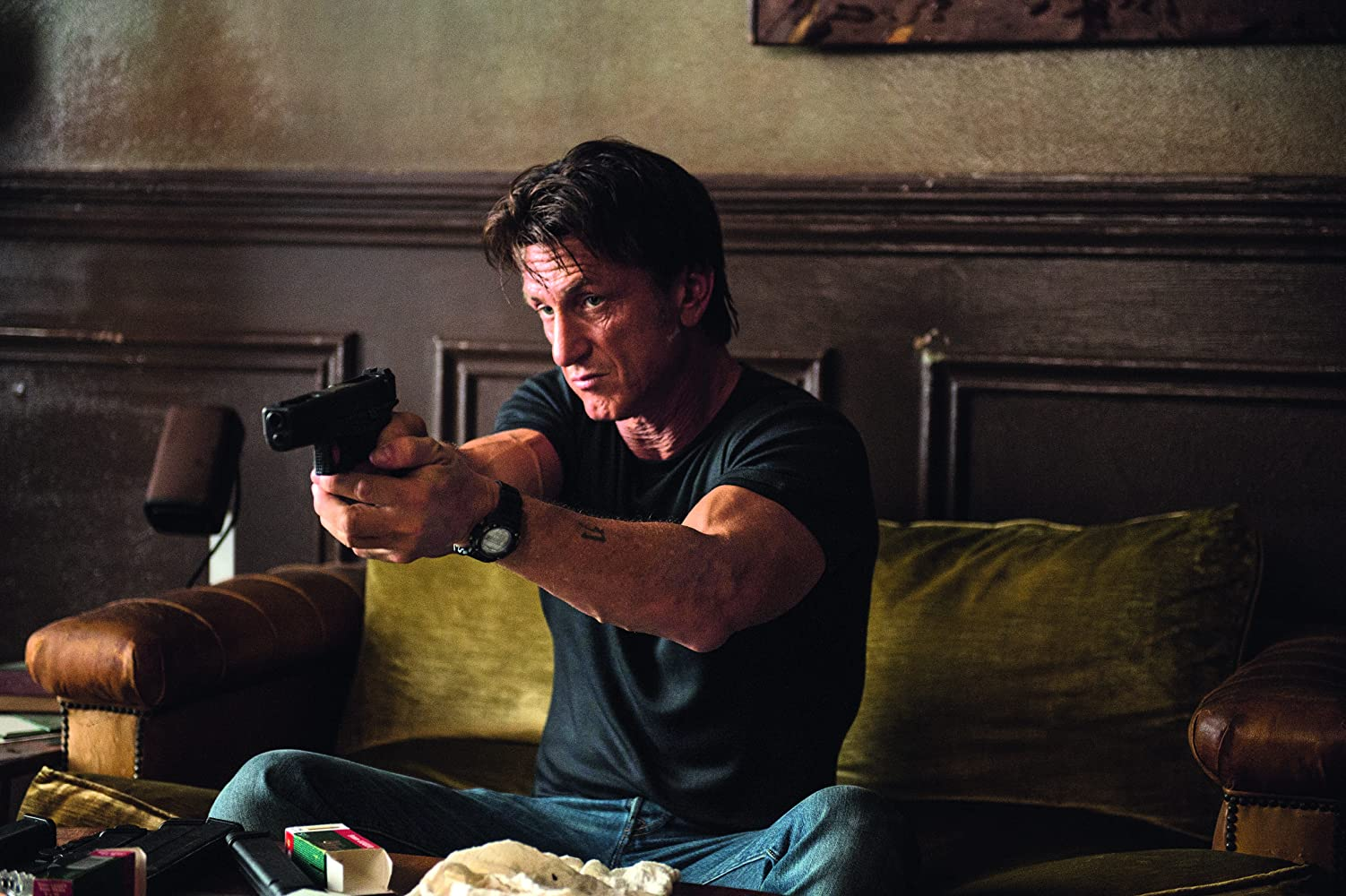 Sean Penn in The Gunman (2015)