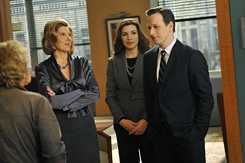 Julianna Margulies, Josh Charles, Christine Baranski, and Kevin Conway in The Good Wife (2009)