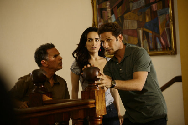 Mark Feuerstein, Ana de la Reguera, and Tony Plana in Royal Pains (2009)