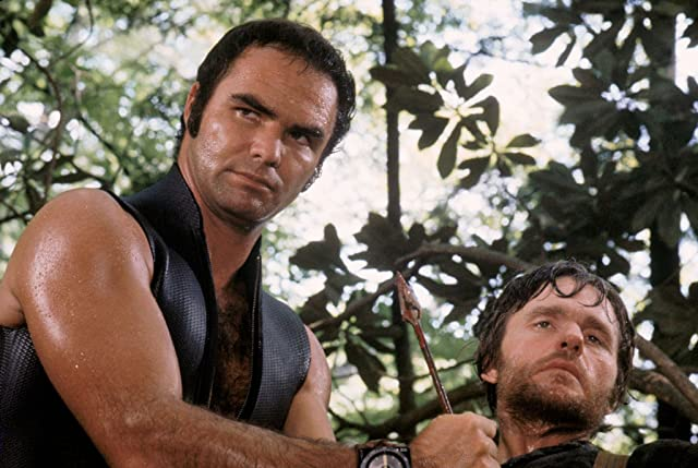 Burt Reynolds and Bill McKinney in Deliverance (1972)