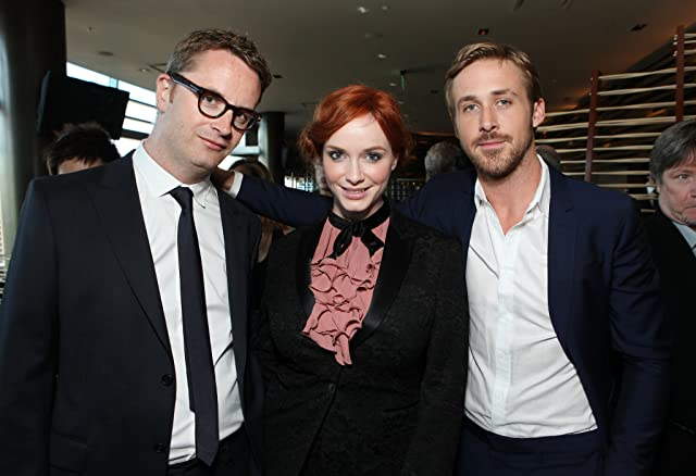 Ryan Gosling, Christina Hendricks, and Nicolas Winding Refn at Drive (2011)