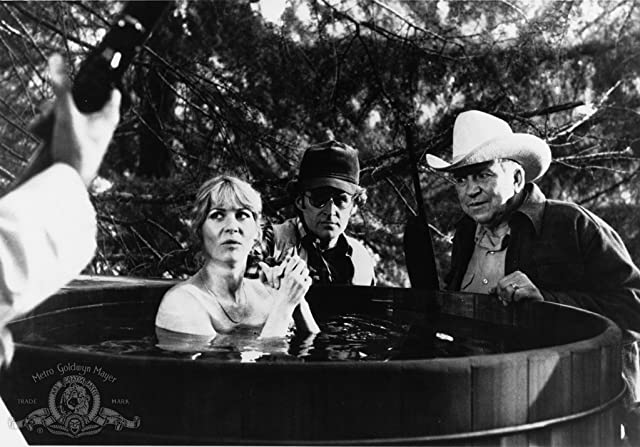 Slim Pickens, James Murtaugh, and Dee Wallace in The Howling (1981)