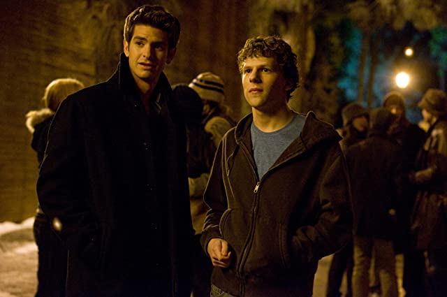 Jesse Eisenberg and Andrew Garfield in The Social Network (2010)