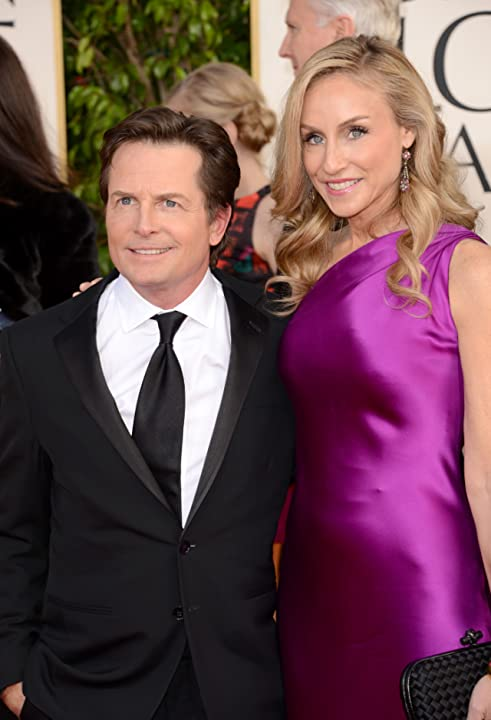 Michael J. Fox and Tracy Pollan at an event for 70th Golden Globe Awards (2013)