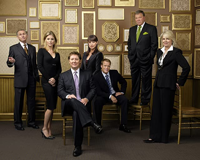 Candice Bergen, William Shatner, James Spader, Rene Auberjonois, Julie Bowen, Mark Valley, and Constance Zimmer in Boston Legal (2004)