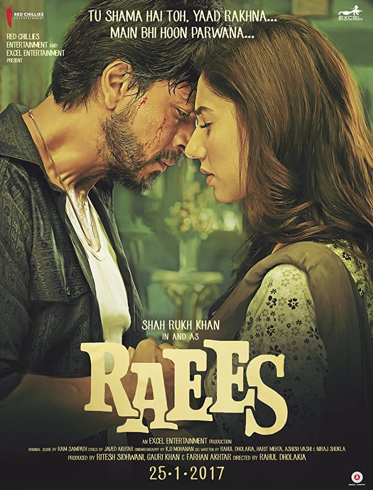 Raees 2017 Hindi HEVC 720p DVDSCR 500MB