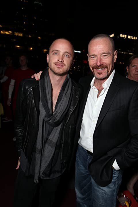 Bryan Cranston and Aaron Paul at Drive (2011)