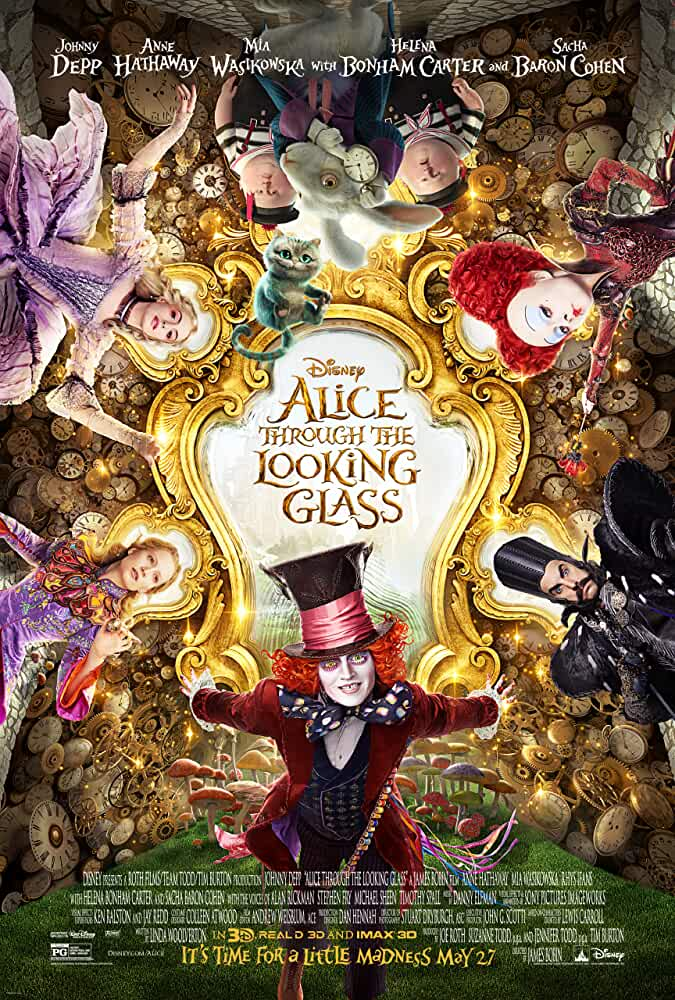 Alice Through The Looking Glass 2016 720p BRRip English Watch Online Free Download