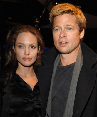 Brad Pitt and Angelina Jolie at God Grew Tired of Us (2006)